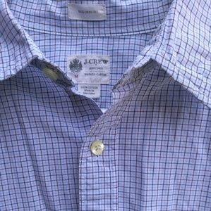 J Crew tailored fit casual button up shirt